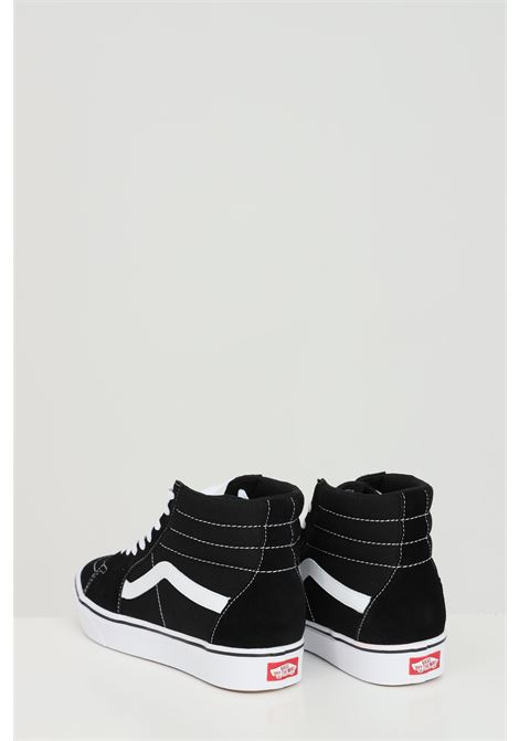 Black sneakers in solid color with contrasting logo on the side, closure with laces, boot model. Vans  VANS | Sneakers | VN0A3WMBVNE1VNE1