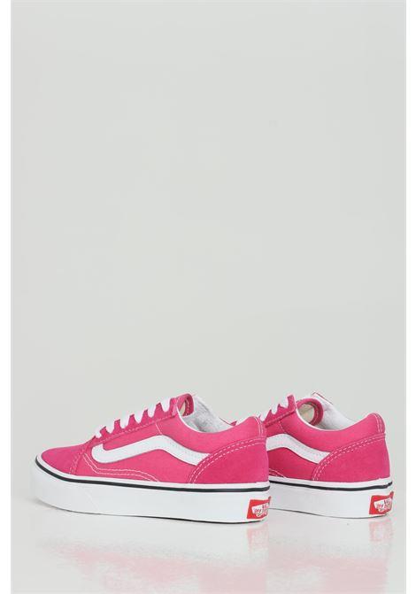 Sneakers Old Skool bambina fucsia Vans in tinta unita con logo a contrasto, chiusura con lacci VANS | Sneakers | VN0A4BUU32C132C1