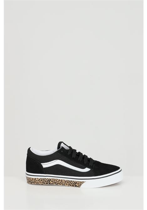 Black sneakers in solid color with animal sole, contrasting logo and closure with laces. Baby model. Vans VANS | Sneakers | VN0A4BUU32M132M1