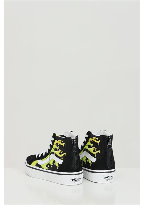 Black slime flame sk8-hi sneakers, boot model with flame print and closure with laces. Baby model. Vans VANS | Sneakers | VN0A4BUX31M131M1
