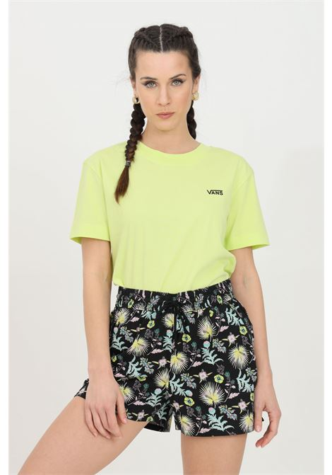 T-shirt donna lime vans a manica corta in tinta unita con logo frontale a contrasto in dimensioni ridotte, modello basic VANS | T-shirt | VN0A4MFLTCY1TCY1