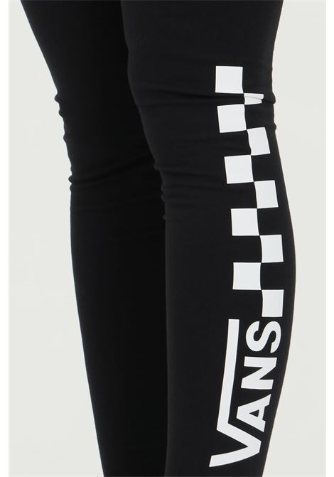 Black Chalkboard Classic leggings in solid color with damier and logo print, high waist and elastic waistband. Vans  VANS | Leggings | VN0A4S9WBLK1BLK1