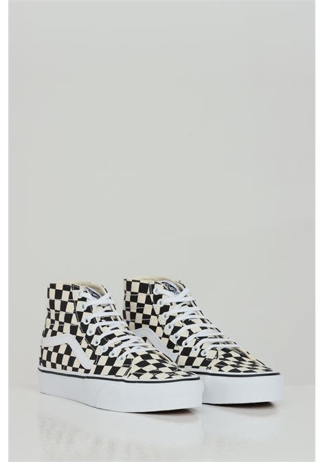 Sk8-Hi Tapered Sneakers. Damier press. VANS | Sneakers | VN0A4U165GU15GU1