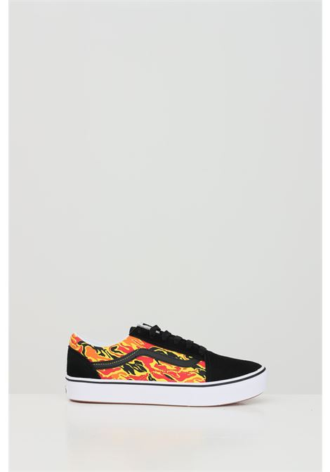 Black COMFYCUSH OLD SKOOL sneakers with side print and contrasting logo, rubber sole and round toe, closure with laces. Vans VANS | Sneakers | VN0A4UHA31O13101