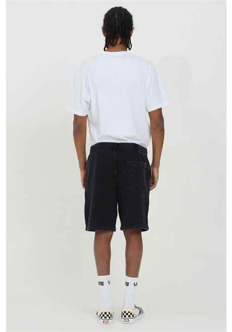 Shorts uomo nero vans causal slavati con molla in vita e tasche laterali. Vestibilità over VANS | Shorts | VN0A5DYLBLK1BLK1