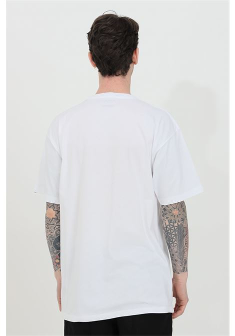 White classic easy box t-shirt with front logo, regular fit. Vans VANS | T-shirt | VN0A5E813PS13PS1