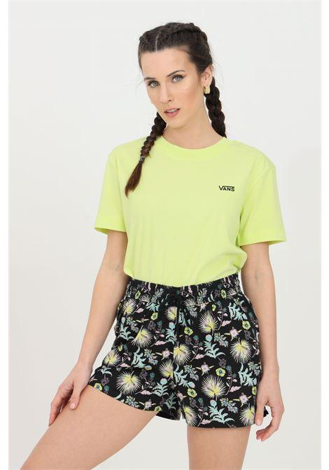 Shorts donna multicolor vans casual con molla in vita con lacci e tasche laterali, modello comodo VANS | Shorts | VN0A5ETWZ751Z751
