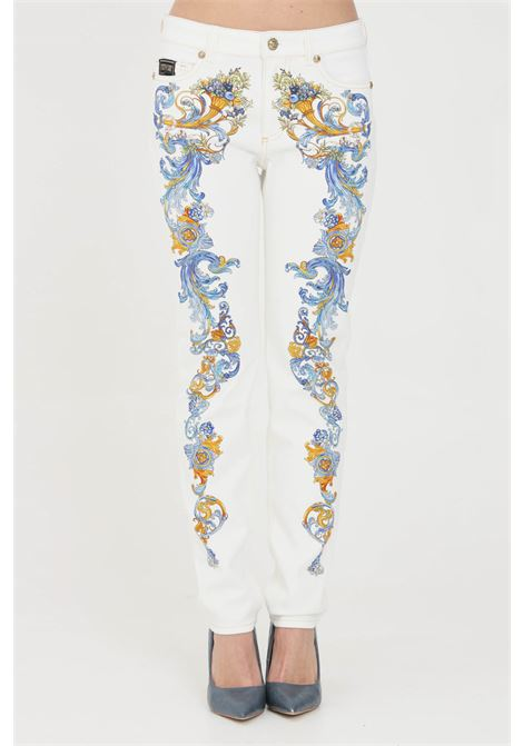 Jeans donna bianco versace jeans couture VERSACE JEANS COUTURE | Jeans | A1HWA0SPSS154E70
