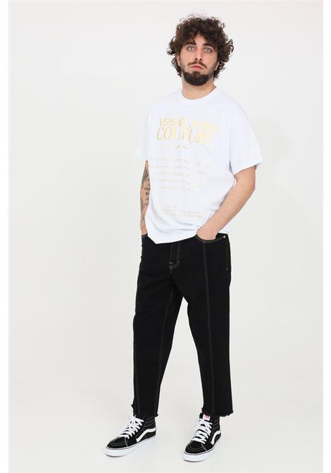 Pantaloni uomo nero versace jeans couture casual VERSACE JEANS COUTURE | Pantaloni | A2GWA0WIALL4P899