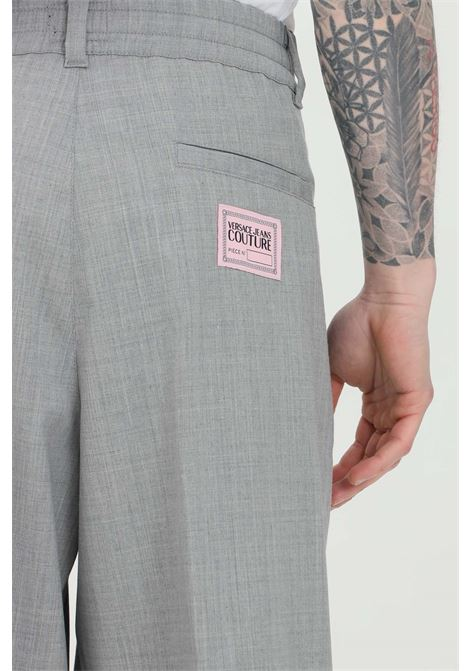 Pearl grey casual trousers versace jeans couture VERSACE JEANS COUTURE | Pants | A2GWA11015640802