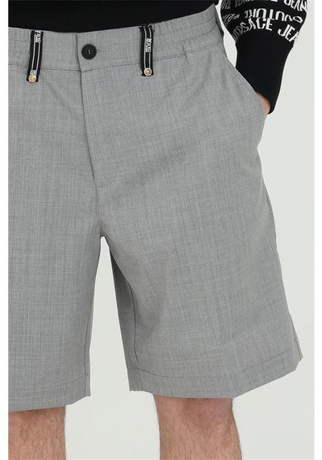 Pearl grey men's shorts in technical fabric versace jeans couture VERSACE JEANS COUTURE | Shorts | A4GWA11515640802