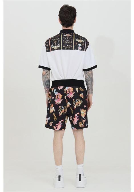 Black patterned shorts with spring at the waist. Brand: Versace Jeans Couture VERSACE JEANS COUTURE | Shorts | A4GWA122S0999899