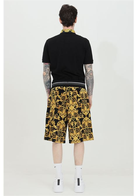 Black shorts with baroque print, over size model. Brand: Versace Jeans Couture VERSACE JEANS COUTURE | Shorts | A4GWA127S0034899