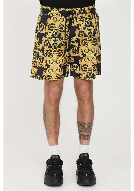 Shorts uomo nero versace jeans couture casual VERSACE JEANS COUTURE | Shorts | A4GWA1A625193899