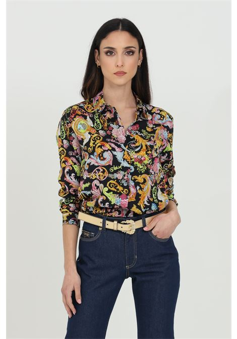Camicia in saten con stampa paisley floreali VERSACE JEANS COUTURE | Camicie | B0HWA628S0879899