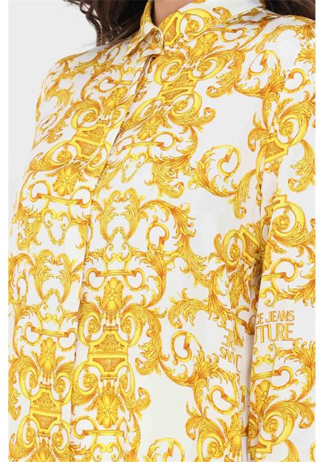White-gold elegant shirt versace jeans couture VERSACE JEANS COUTURE | Shirt | B0HWA628S0990003