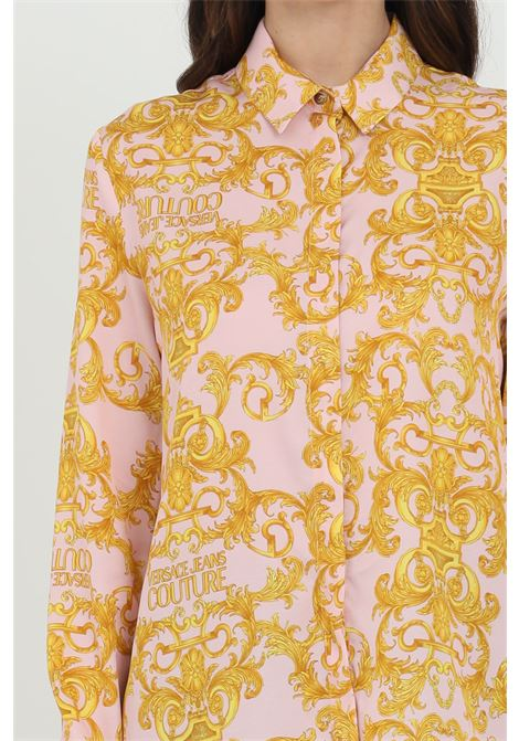 Pink shirt with baroque print. Button closure and comfortable model. Brand: Versace Jeans Couture VERSACE JEANS COUTURE | Shirt | B0HWA628S0990402
