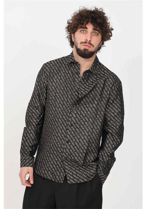 Camicia uomo nero versace jeans couture elegante VERSACE JEANS COUTURE | Camicie | B1GWA60209476899