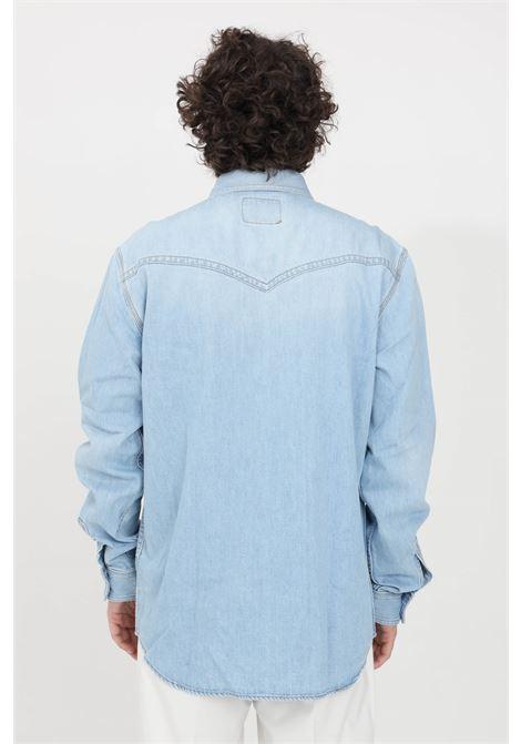 Camicia uomo denim versace jeans couture casual VERSACE JEANS COUTURE | Camicie | B1GWA60IAPU5Z904