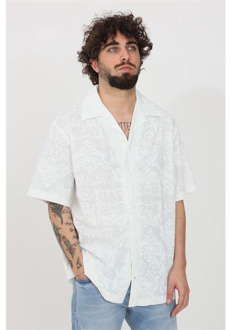 Camicia uomo a fantasia versace jeans couture casual con bottoni VERSACE JEANS COUTURE | Camicie | B1GWA6B2SR085003