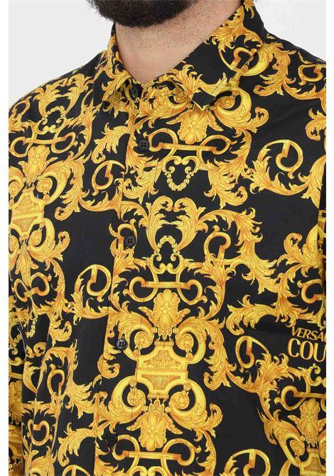 Camicia uomo fantasia versace jeans couture elegante con bottoni VERSACE JEANS COUTURE | Camicie | B1GWA6S0S0152899