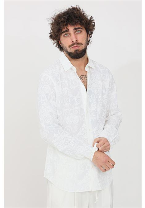 Camicia uomo bianco versace jeans couture elegante VERSACE JEANS COUTURE | Camicie | B1GWA6S1SR085003