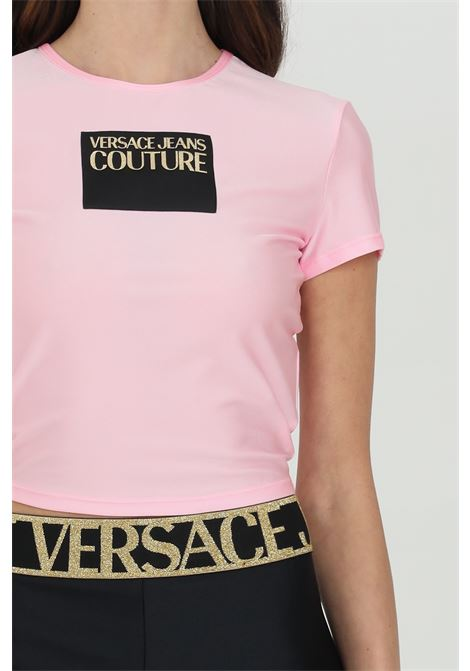 Crop t-shirt with front logo VERSACE JEANS COUTURE | T-shirt | B2HWA70304745402