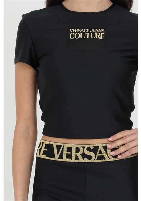 Crop t-shirt with front logo VERSACE JEANS COUTURE | T-shirt | B2HWA70304745899