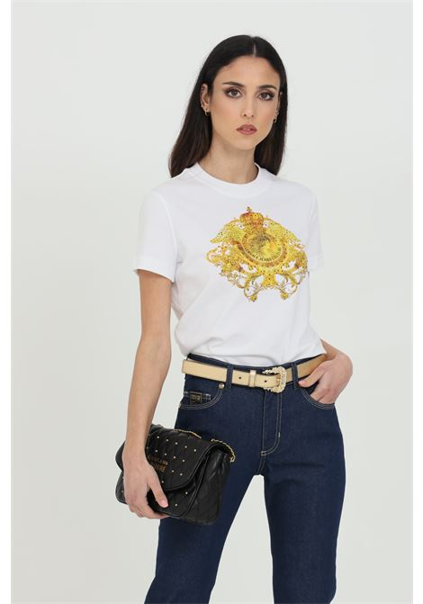 T-shirt with baroque and rhinestone print VERSACE JEANS COUTURE | T-shirt | B2HWA72911620003