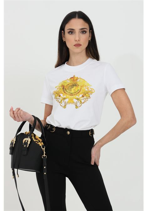 Basic t-shirt with front print VERSACE JEANS COUTURE | T-shirt | B2HWA73030454899003