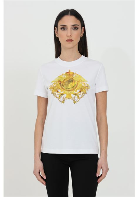 T-shirt basic con stampa frontale VERSACE JEANS COUTURE | T-shirt | B2HWA73030454899003