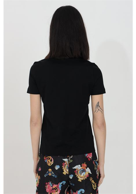 T-shirt girocollo con logo e stampa centrale, tinta unita VERSACE JEANS COUTURE | T-shirt | B2HWA7KA30457899