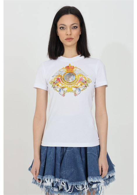 T-shirt girocollo con stampa frontale VERSACE JEANS COUTURE | T-shirt | B2HWA7KD30457003
