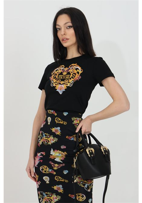 T-shirt girocollo con stampa frontale VERSACE JEANS COUTURE | T-shirt | B2HWA7PD30457899