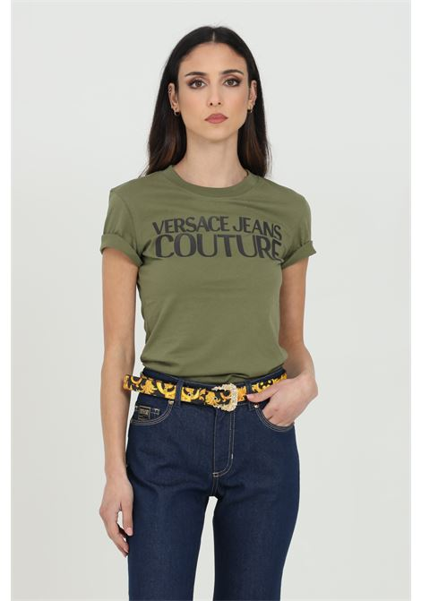 T-shirt with front logo VERSACE JEANS COUTURE | T-shirt | B2HWA7TA30454134