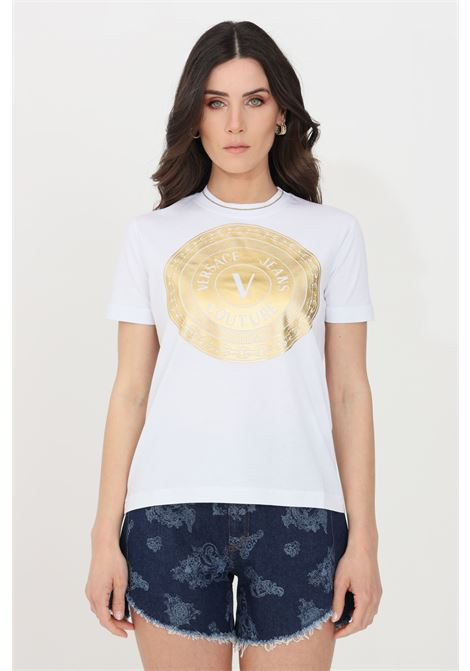 White t-shirt short sleeve versace jeans couture VERSACE JEANS COUTURE | T-shirt | B2HWA7TC30319K41