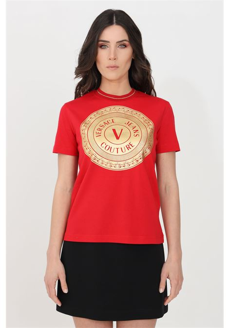 Red t-shirt short sleeve versace jeans couture VERSACE JEANS COUTURE | T-shirt | B2HWA7TC30319O19