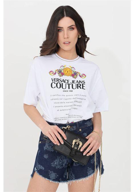 White t-shirt short sleeve versace jeans couture VERSACE JEANS COUTURE | T-shirt | B2HWA7TE30319003