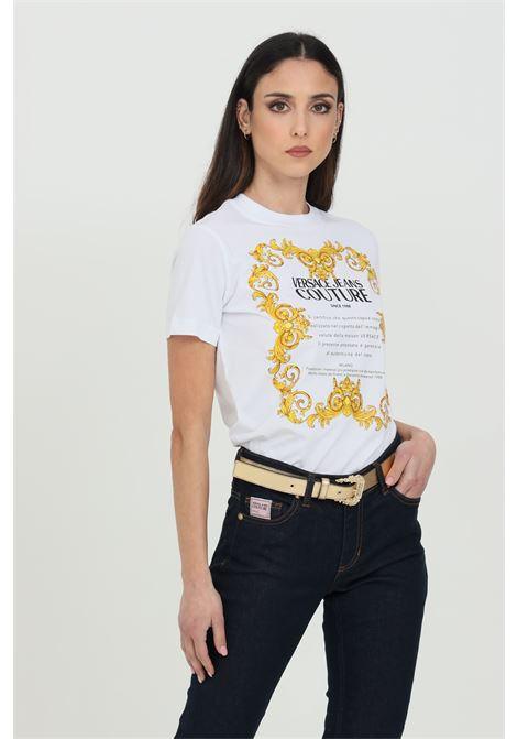 T-shirt con maxi logo frontale VERSACE JEANS COUTURE | T-shirt | B2HWA7TJ30319003
