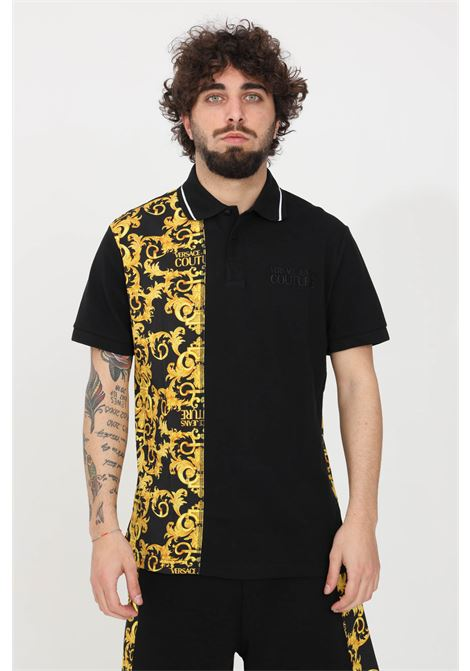 Polo uomo nero versace jeans couture VERSACE JEANS COUTURE | Polo | B3GWA722S0154899