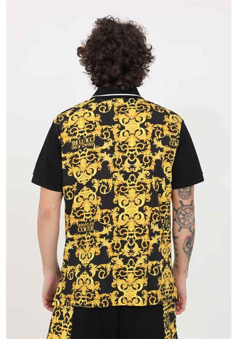 Black polo shirt versace jeans couture VERSACE JEANS COUTURE | Polo Shirt | B3GWA722S0154899