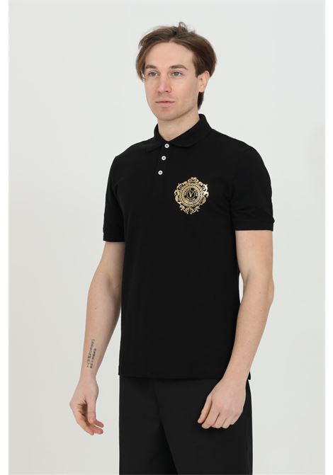 Polo shirt with buttons and gold front logo VERSACE JEANS COUTURE | Polo Shirt | B3GWA75F30455K42