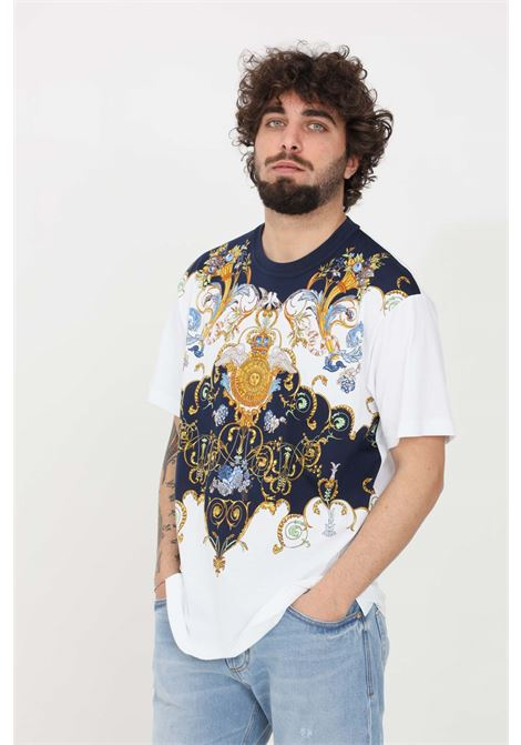 T-shirt uomo bianco versace jeans couture a manica corta VERSACE JEANS COUTURE | T-shirt | B3GWA7R011620003