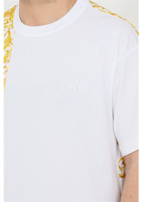 T-shirt uomo bianco versace jeans couture a manica corta VERSACE JEANS COUTURE | T-shirt | B3GWA7R1S0155003