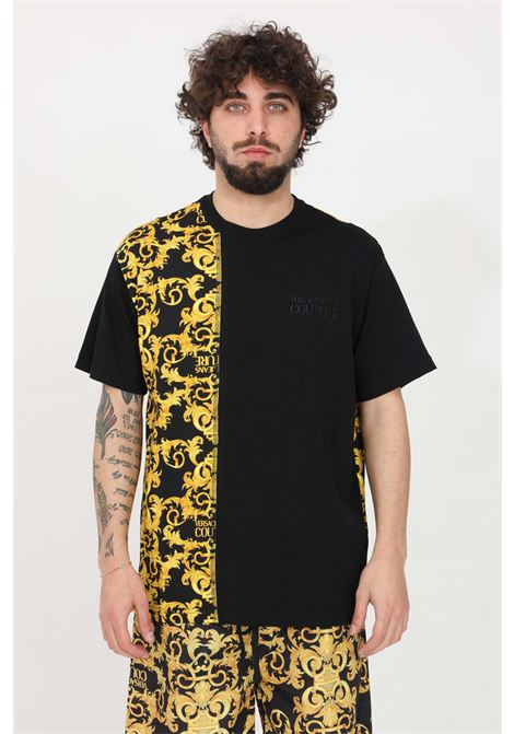 T-shirt uomo nero versace jeans couture a manica corta VERSACE JEANS COUTURE | T-shirt | B3GWA7R1S0155899