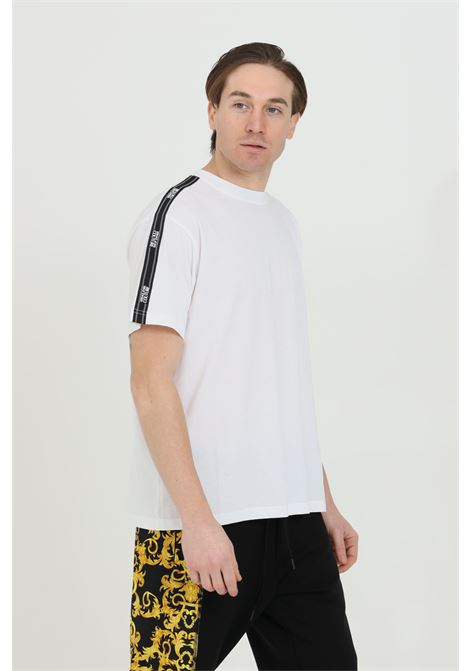 Basic T-shirt with logo stripes VERSACE JEANS COUTURE | T-shirt | B3GWA7R211620003