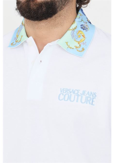 Polo uomo bianco versace jeans couture VERSACE JEANS COUTURE | Polo | B3GWA7T536571003