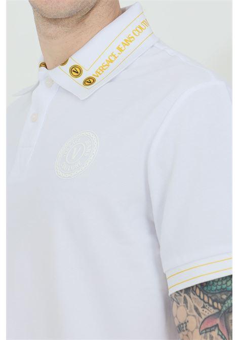 Polo con logo in gomma sul fronte VERSACE JEANS COUTURE | Polo | B3GWA7T636571K41