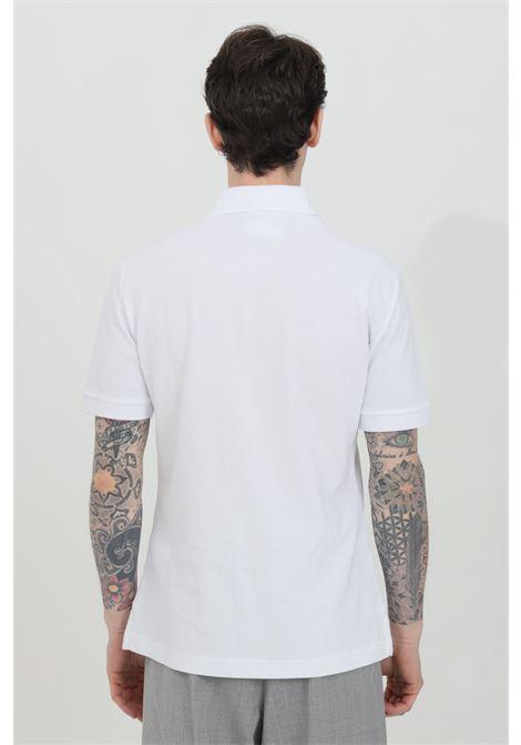Polo uomo bianca versace jeans couture con patch logo frontale e caratteristico colletto con bottoni VERSACE JEANS COUTURE   Polo   B3GWA7T936571003