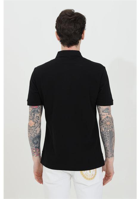 Polo uomo nera versace jeans couture con patch logo frontale e caratteristico colletto con bottoni VERSACE JEANS COUTURE   Polo   B3GWA7T936571899